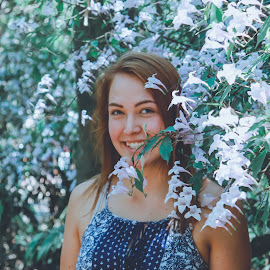 flowers by Este Pretorius - Novices Only Portraits & People ( flowers, red hair, nature, smiles for miles, fun )