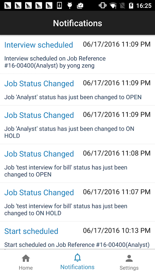 JobDiva- screenshot