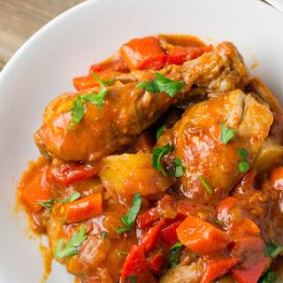 Chicken Afritada (Chicken Braised in Tomato Sauce)
