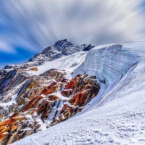Mountain by Tien Sang Kok - Landscapes Mountains & Hills ( mountain, himalaya, snow, cloud, nepal,  )