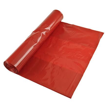 Sopsäck Polyprima 125l röd 25/