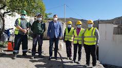 Visita del delegado al municipio de Olula.