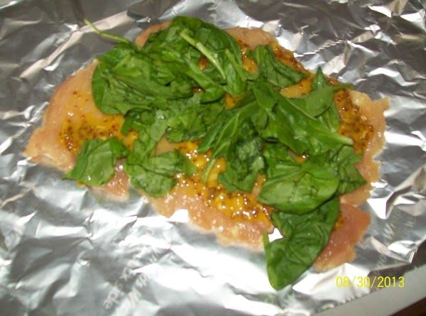Put the fresh spinach on top.