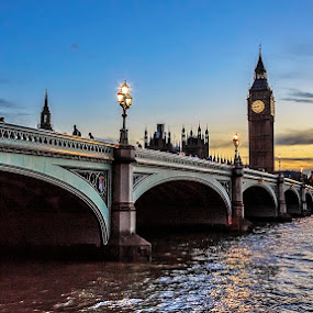 Westminster by CK Lam - City,  Street & Park  Historic Districts ( thames river, england, uk, london, clock tower, sunset, elizabeth tower, westminster, big ben, united kingdom )