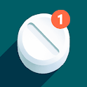 Pills reminder. Pillbox medication tracker app icon
