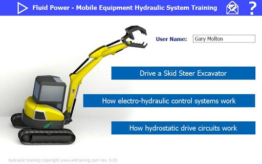 Mobile system hydraulic excavator training rev 1-00 screenshots 5