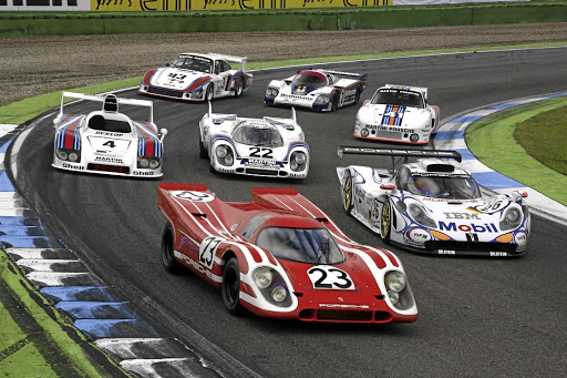 Porsche winners from Le Mans over the decades. Picture PORSCHE