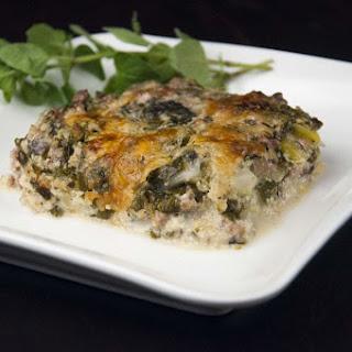 White Zucchini Spinach Lasagna