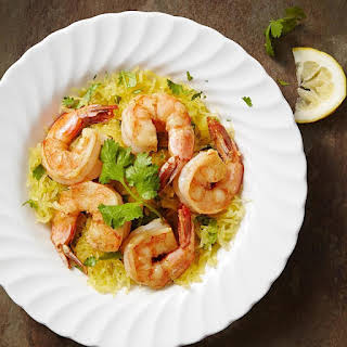 Garlic Shrimp with Cilantro Spaghetti Squash.