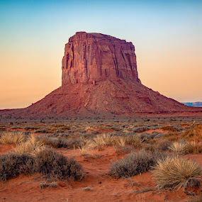 Monument Valley Sunrise by Matthew Clausen - Landscapes Deserts ( utah, national park, monument valley, arizona, iconic, desert, landscape )