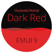 Dark Red EMUI 9 Theme [ Black and Red ] Icon