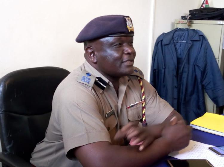 Ugunja OCPD Ibrahim Muchuma./LAMECK BARAZA