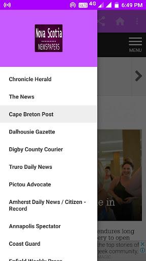 Nova Scotia Daily Newspapers 1.0 screenshots 6