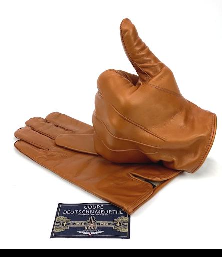 gants cuir camel barnstormer