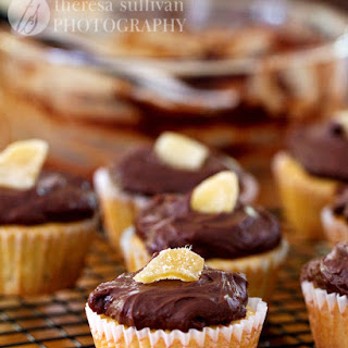 Triple Ginger Cupcakes with Chocolate Fudge Frosting