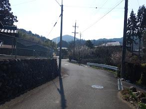 十字路から脇道に入る