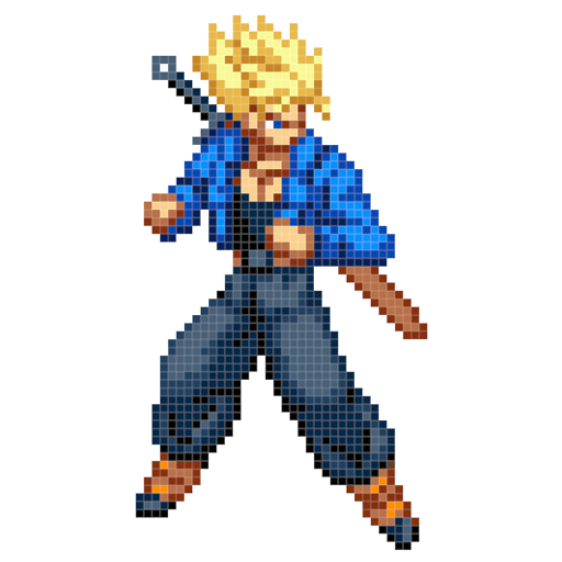 Gokuu Color Pixel by Number - Dragon Sandbox Pixel