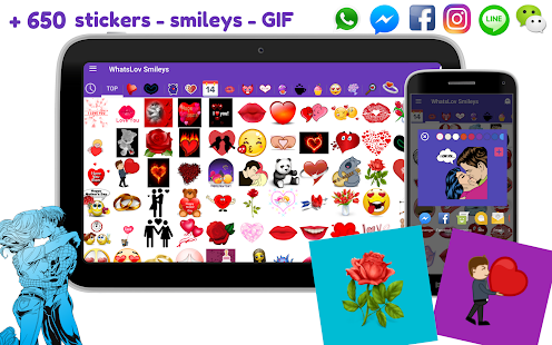 💘 WhatsLov: Smileys of love, stickers and GIF- screenshot thumbnail