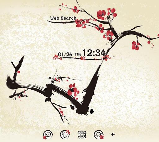 Elegant wallpaper-Sumie Plum-