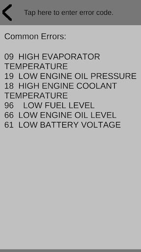 Thermoking error codes