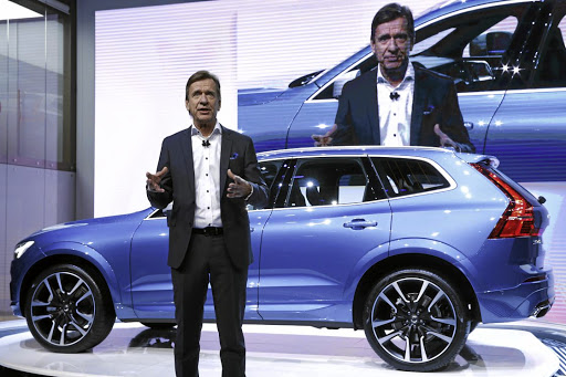 Volvo CEO Hakan Samuelsson speaks at a presentation of the new Volvo XC60 car at the International Motor Show at Palexpo in Geneva, Switzerland, on March 7 2017. File photo: REUTERS