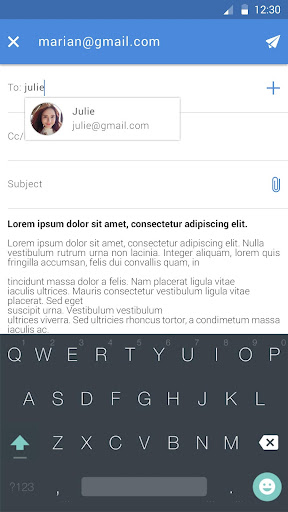 Email Pro app for Android screenshot