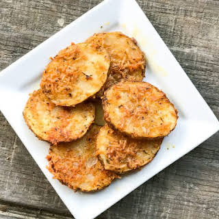 Garlic Parmesan Crusted Potatoes.