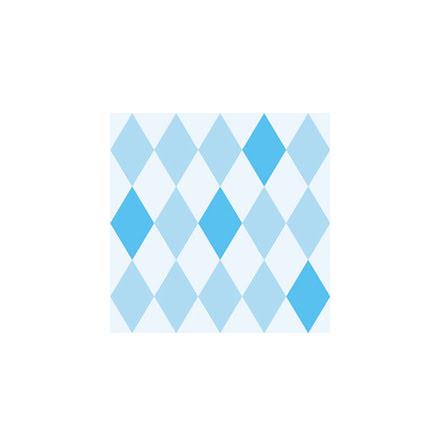 Servetter - Harlequin blå