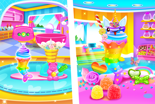 Mermaid Glitter Cupcake Chef - Ice Cream Cone Game 1.0 screenshots 4