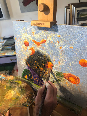La battaglia delle arance dello storico carnevale di Ivrea: visione di un pittore  di Astrik