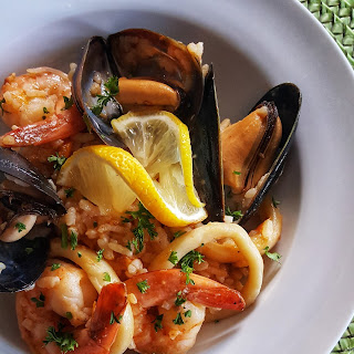 Spicy Seafood Paella.