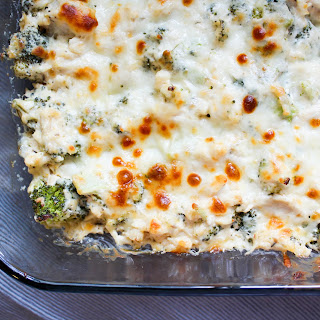 Cheesy Chicken and Broccoli Casserole {THM-S, Low Carb}.