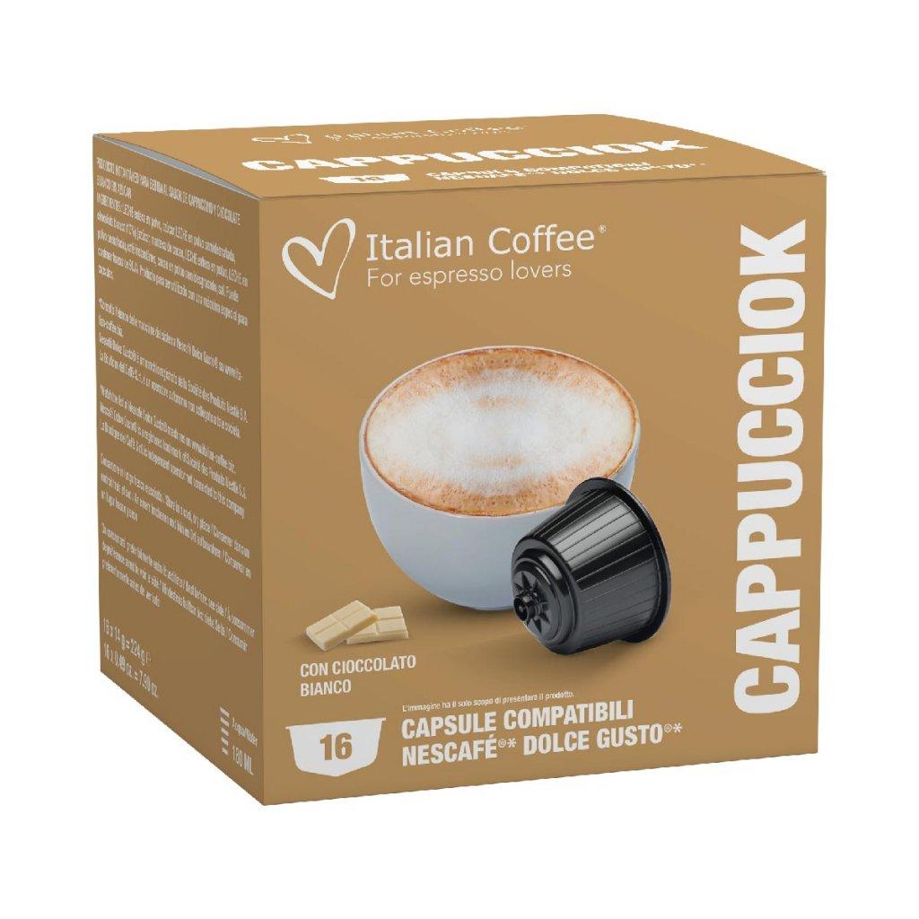 Kávové kapsle cappuccino s bílou čokoládou Nescafé