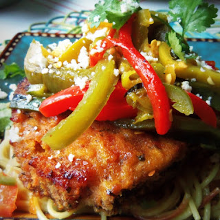 Crispy Baked Pork Chops with Pepper Medley