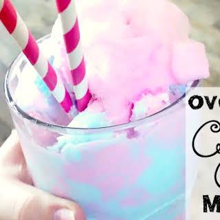 Overloaded Dairy-Free Cotton Candy Milkshake {vegan & gluten-free}.