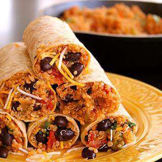 Protein Quinoa & Bean Burrito Wrap.