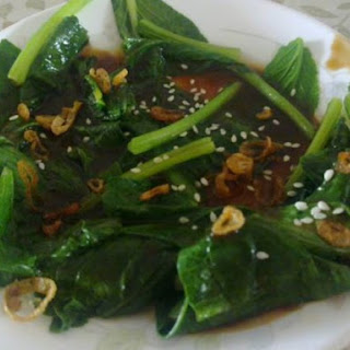 Chye Sim With Oyster Sauce