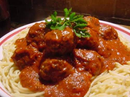 "Spaghetti and Meatballs (Italiano) ""This recipe is SO delicious. I started the..."