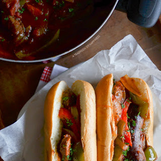 Sausage and Pepper Sandwiches.