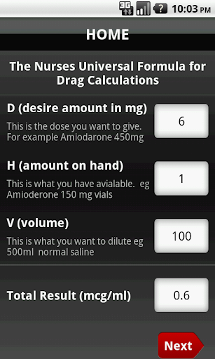 UDC Universal Drug Calculator