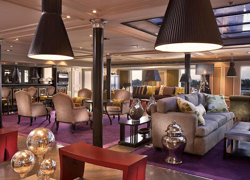 Meet a mix of international travelers in the lounge of ms Mayfair on a Viking cruise along the Nile.