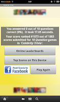 Screenshot of Celebrity Trivia