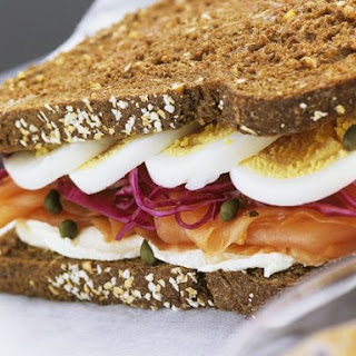 Egg and Fish Rye Sandwich