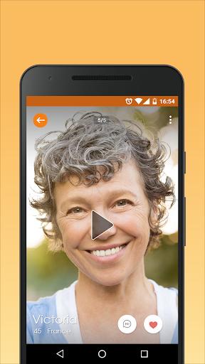 Senior People Mingle - Dating Chat App for Mature Screenshot