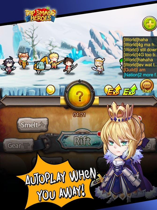 Tap Smash Heroes: Idle RPG Game Android 7