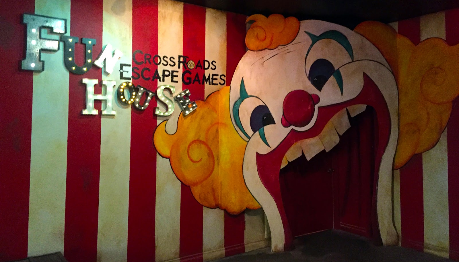 Fun House escape room entrance