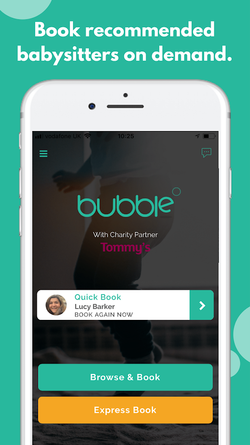 Bubble - Find a Babysitter Now- screenshot
