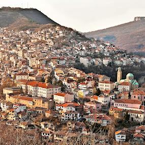 Veliko Tarnovo-Bulgaria by Stoyan Katinov - Buildings & Architecture Architectural Detail ( veliko, tzaravetz, monument, road, tarnovo, wall, bulgaria )