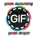 gif good morning and night icon