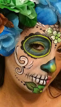 Photo: Holiday face painting by Maria, Walnut, Ca 888-750-7024 http://www.memorableevententertainment.com/FacePainting/MariaChino,Ca.aspx